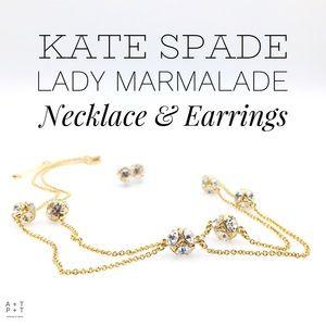 Kate Spade Lady Marmalade Necklace & Earrings